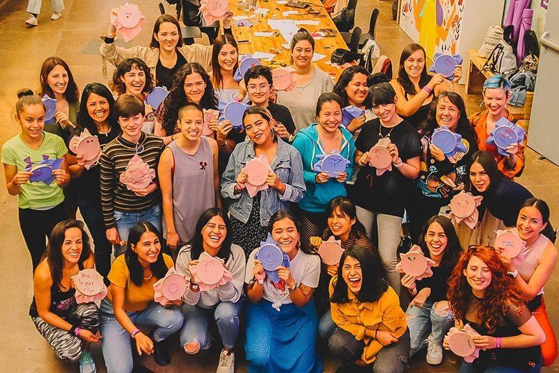 Apapacho Sororo, un evento con diversos talleres gratuitos para nuestra comunidad celebrado en marzo de 2020 (Foto cortesía de Malvestida)